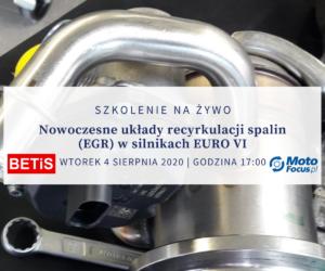 Nowoczesne układy recyrkulacji spalin – szkolenie dla Czytelników MotoFocus.pl