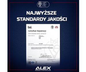 Międzynarodowe standardy ISO 9001:2015 w ALEX