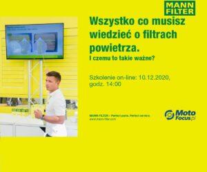 Wszystko co musisz wiedzieć o filtrach powietrza – szkolenie online dla Czytelników MotoFocus.pl