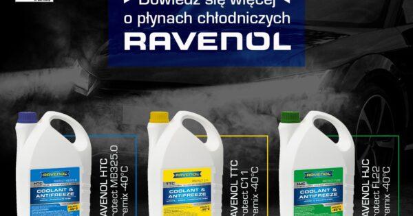 Płyny chłodnicze i koncentraty Ravenol w promocyjnych cenach