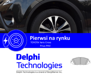 Klocki hamulcowe Delphi Technologies znowu pierwsze na rynku!