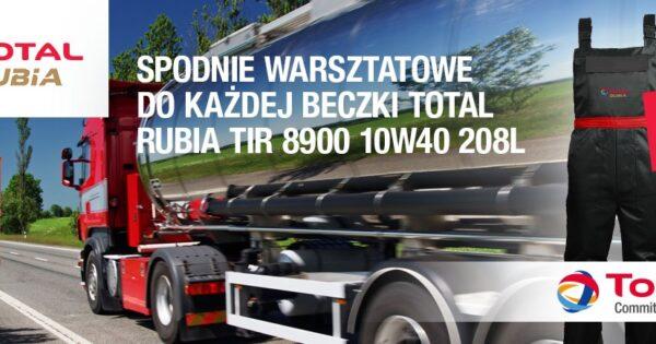 Promocja Total przy zakupie beczki oleju RUBIA TIR 8900