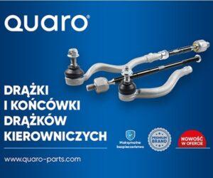 Nowości w ofercie Quaro: drążki i końcówki drążka kierowniczego