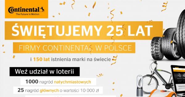 Urodzinowa loteria – Continental nagradza partnerów