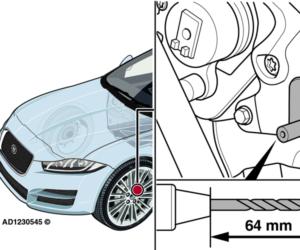Jaguar XE: lampka ostrzegawcza systemu ABS