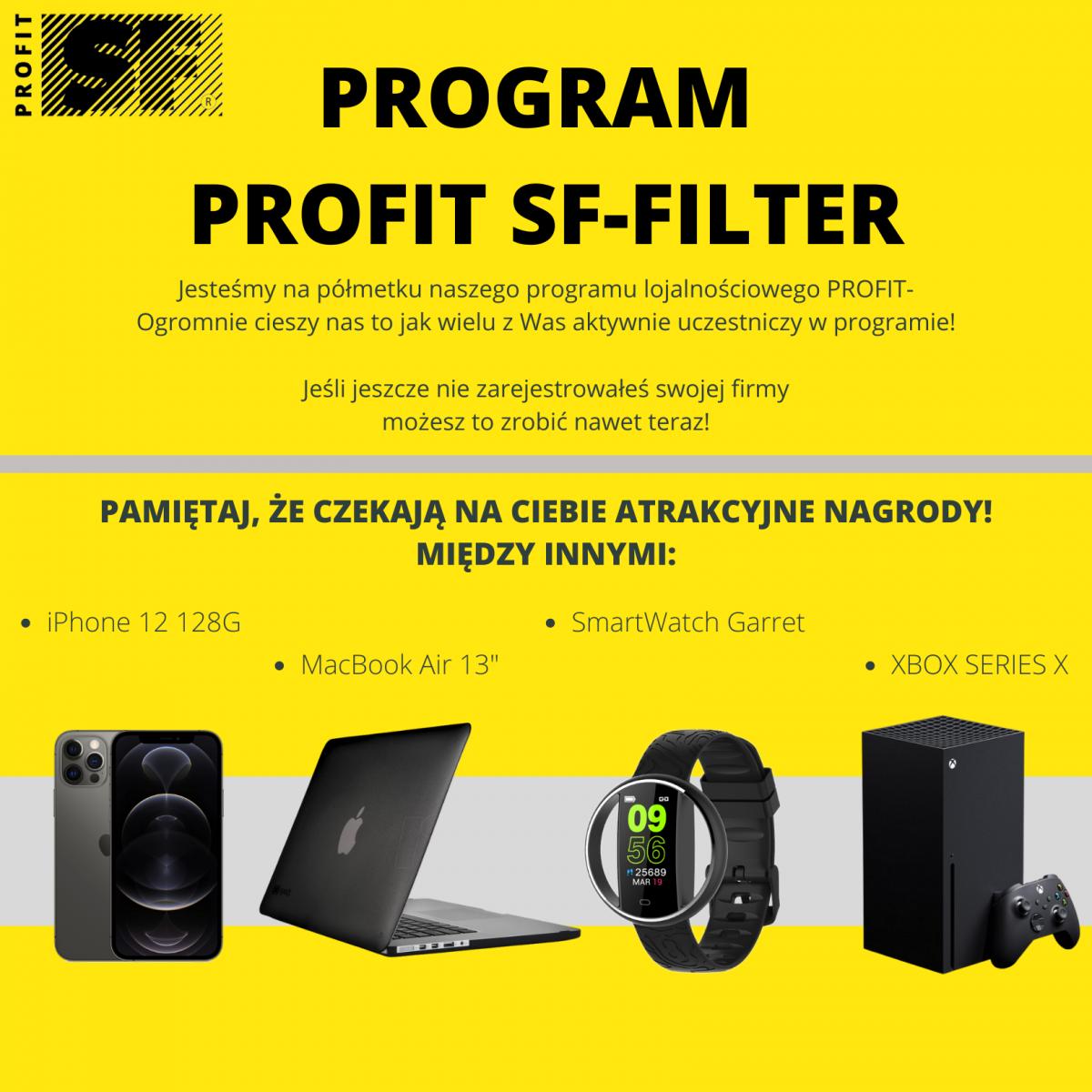 Półmetek programu lojalnościowego Profit SF-Filter